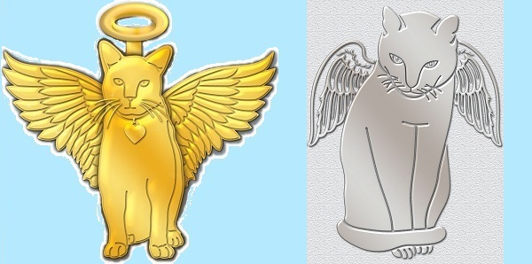 Dog Angel Pins