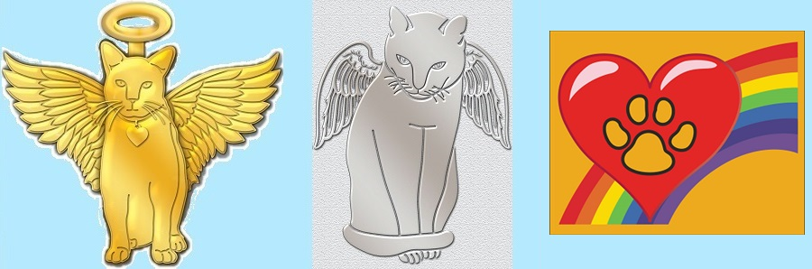 Cat Angel Pins