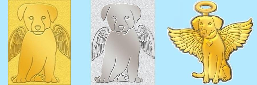 Dog Angel Pins