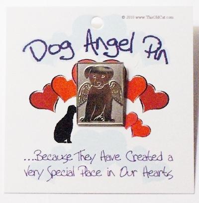 Nickel Dog Angel Pins