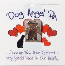 Nickel Dog Angel Pins