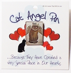 Nickel Cat Angel Pins