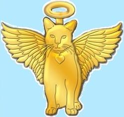 Gold Cat Angel Pins